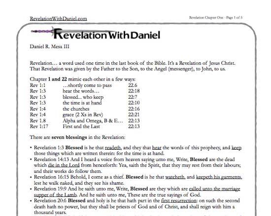 image relating to Printable Revelation Bible Study identified as RevelationWithDaniel Verse through Verse Analyze Notes