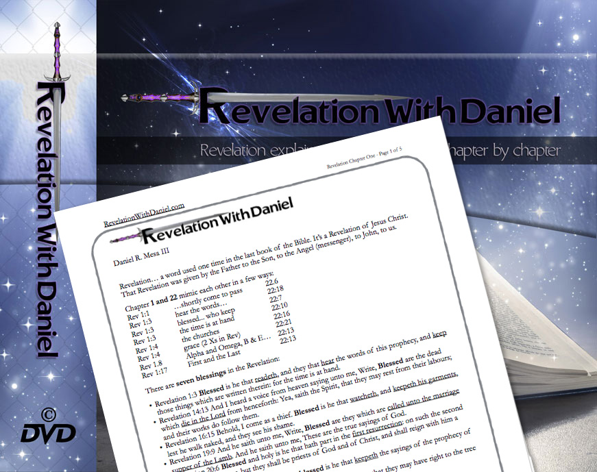 Link for 101 pages of Bible study notes with Daniel Mesa in the book of Revelation