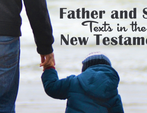 Father and Son Texts in the New Testament